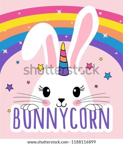 cute rabbit unicorn