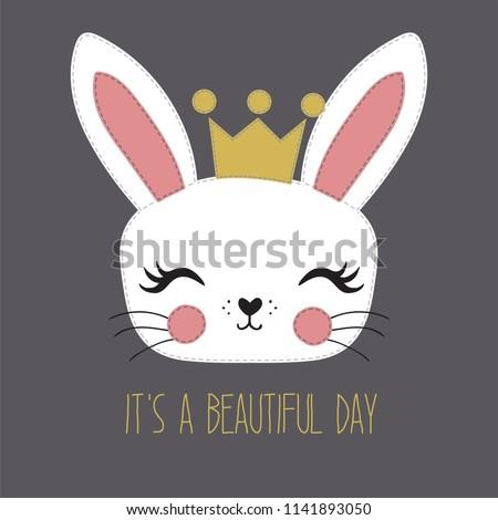 cute rabbit vectoreaster bunny