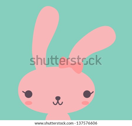 cute rabbit   vector file eps10