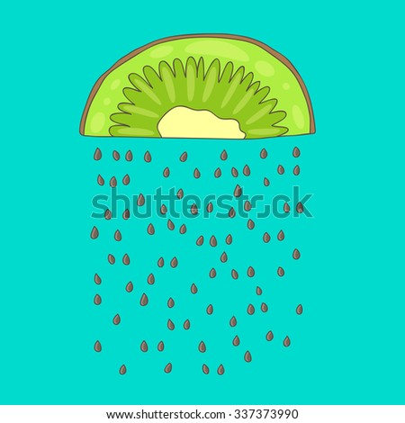 cute rain from kiwi seeds