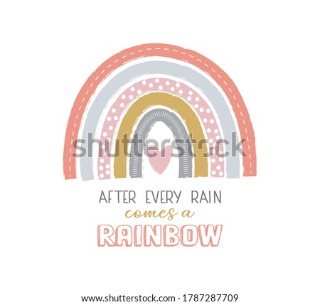 cute rainbow with after every
