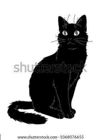 cute realistic cat sitting