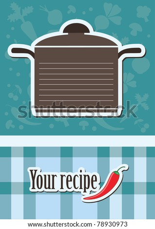 cute recipe card. vector illustration