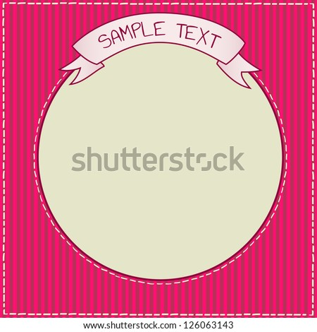 Cute red and purple frame template