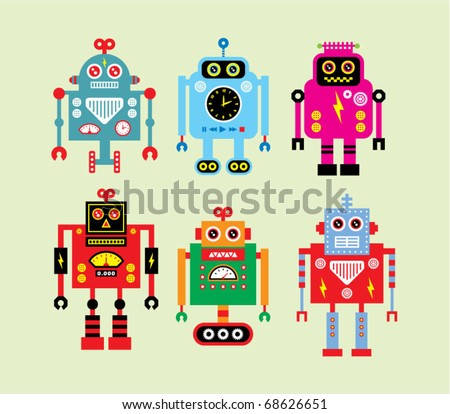 Cute Robot Logo Cute Robot Doodle