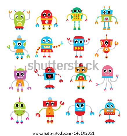 Cute Robot Logo Cute Robot Vector