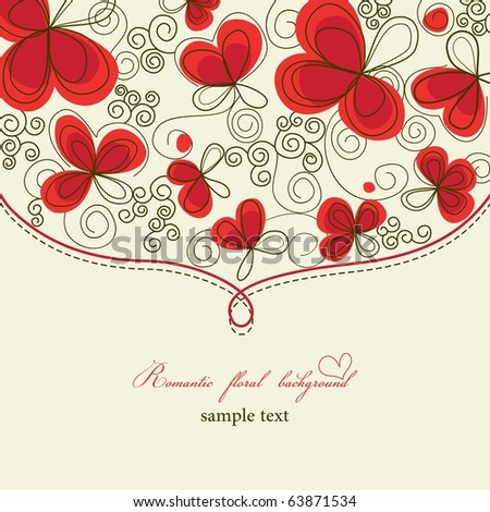 Cute romantic floral background