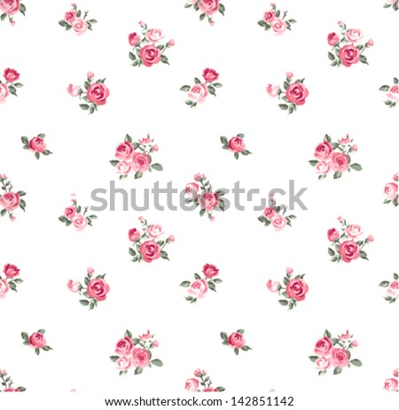 cute rose seamless vector