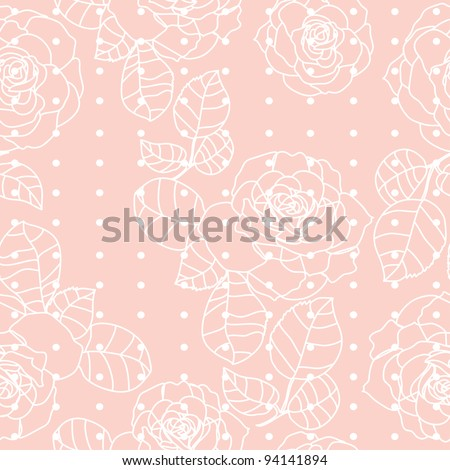 cute roses seamless texture in pink color