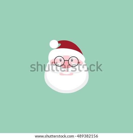 cute santa claus face