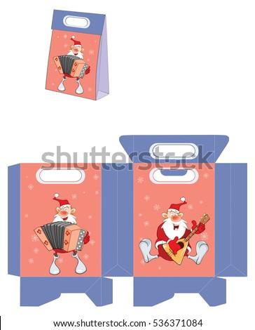 cute santa claus handbags