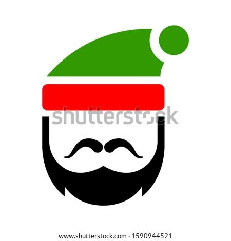 cute santa claus head   merry