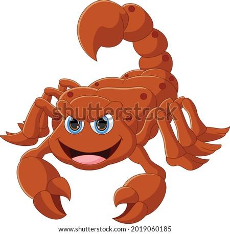 cute scorpion cartoon isolated