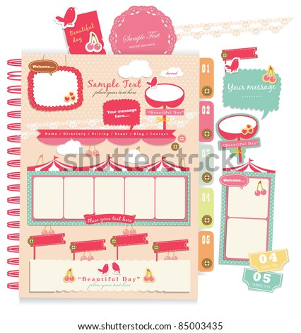 Cute scrapbook elements 9