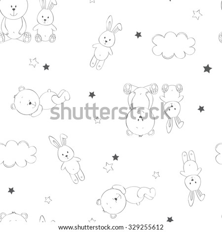 cute seamless baby background