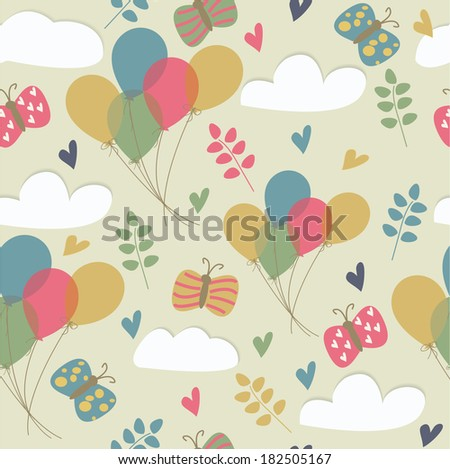 cute seamless background with