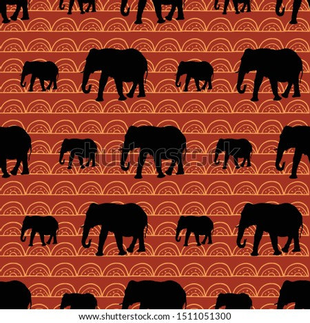 cute seamless elephants pattern