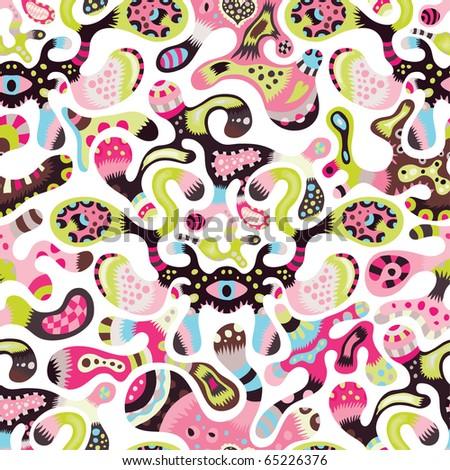 cute seamless pattern in cmyk colors