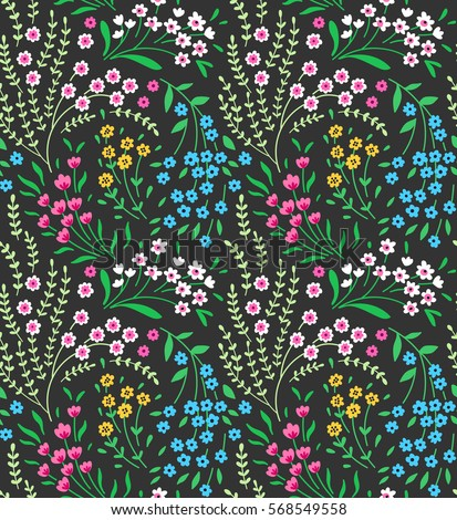 cute seamless pattern in small