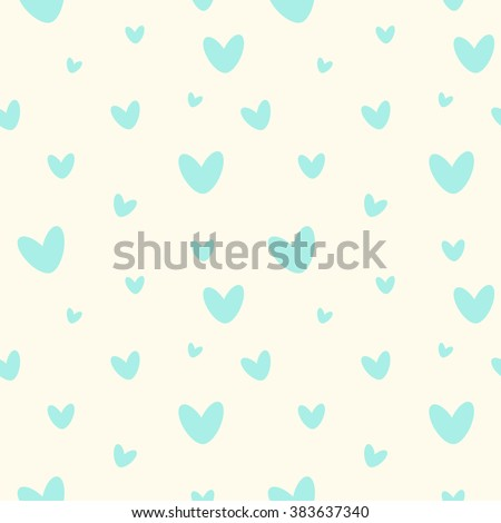 cute seamless pattern with blue