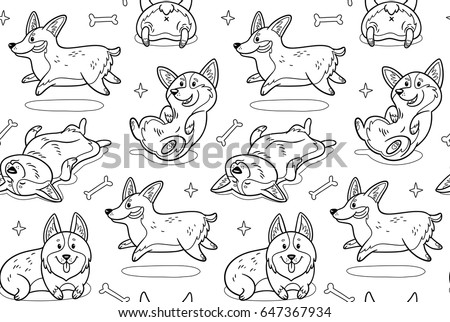 Vector Coloring Book Cute Animals Download Free Vector Art Stock