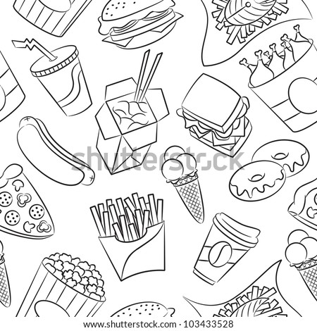 Fast food logo coloring pages fast best free coloring pages for Coloring pages of fast food