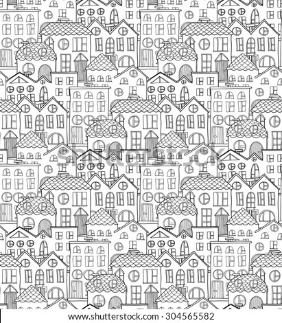 cute seamless pattern with hand