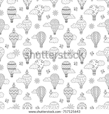 cute seamless pattern with hot