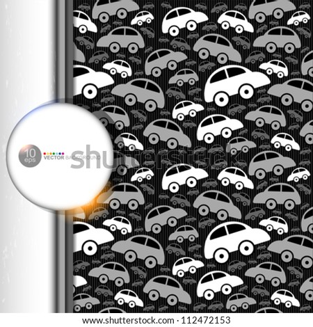 Cute seamless pattern with vintage cars.
