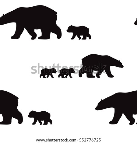 stock-vector-cute-seamless-pattern-with-winter-polar-bear-mother-and-her-child-cute-children-pattern-perfect
