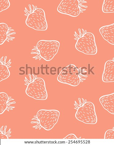 cute seamless strawberry