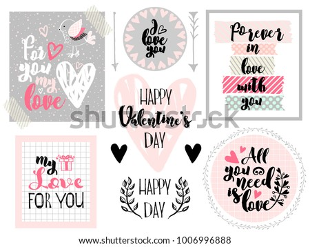 cute set for valentine's day a