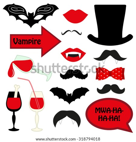 cute set of halloween vampire
