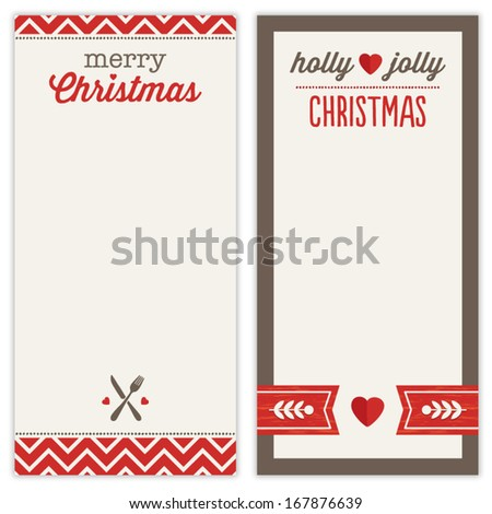 Cute Set Of Hipster Christmas Backgrounds In Red And Gray For Menu – Christmas Dinner Shopping List Template