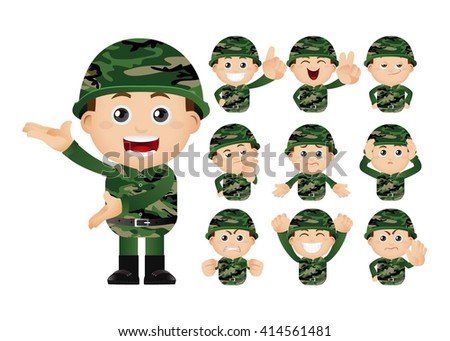 cute set   set of army man