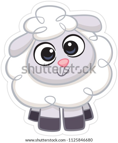 Cute sheep smiling