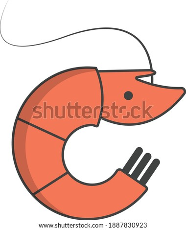 Cute Shrimp illustration with adobe illustrator cc for logos or icons or any kind of project.