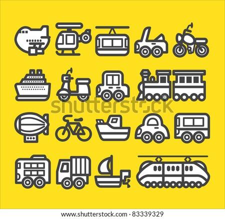 cute simple transportation icon