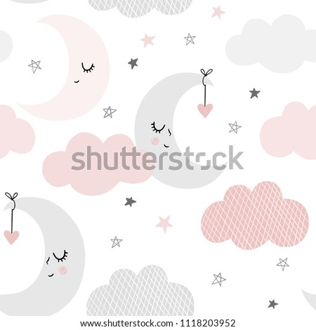 cute sky pattern seamless