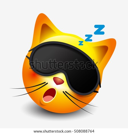 cute sleeping cat emoticon