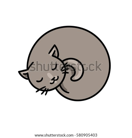 cute sleeping cat vector