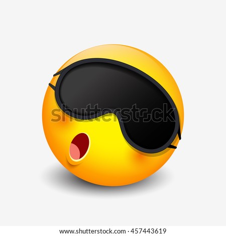 cute sleeping emoticon wearing