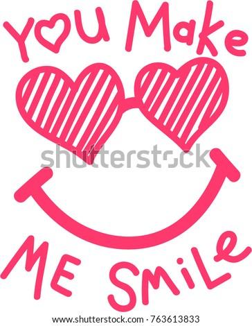 cute slogan illustration
