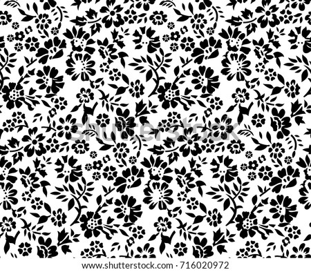 Black And White Floral Background Vector Download Free Vector Art