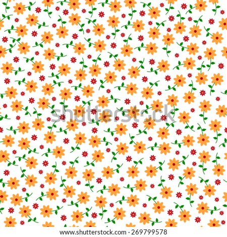 cute small vector flowers seamless pattern. flowers background.