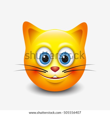 cute smiling cat emoticon