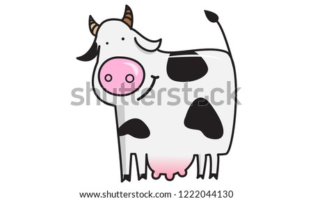 Cute smiling cow