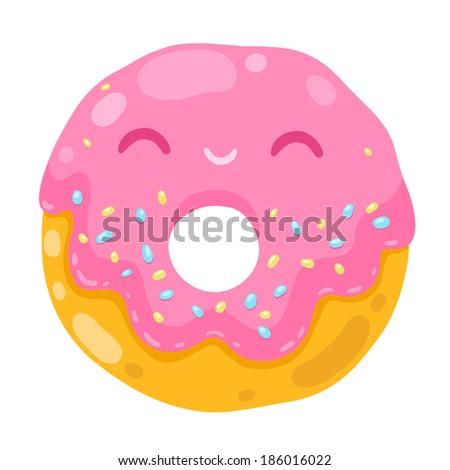 Cute Donuts Cartoon Cute Smiling Donut Cartoon