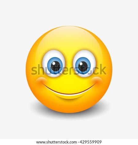 cute smiling emoticon  emoji