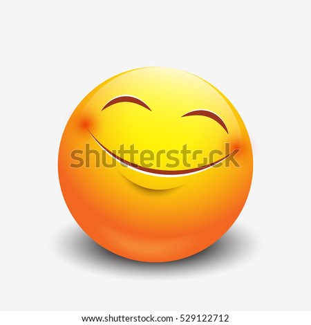 cute smiling emoticon  emoji